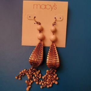 Beautiful Gold-Colored Dangle Earrings